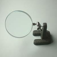 虫眼鏡 スタンド ルーペ 卓上 拡大鏡 スタンド式 小型スタンドルーペ 1630 2.5倍 75mm ルーペ スタンド 池田レンズ ガラスレンズ 日本製