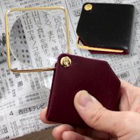 本革製 ゴールドポケットルーペ 携帯 3135B 3.5倍 50mm 虫眼鏡 拡大鏡 池田レンズ アウトレット