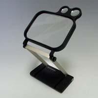 ルーペ スタンド ワイドビュー 卓上 おしゃれ 1796 1.8倍 110×145mm 虫眼鏡 拡大鏡 手芸 スタンド式 ルーペ スタンド 池田レンズ アウトレット
