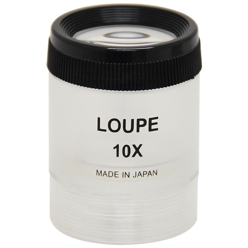虫眼鏡 スケールルーペ 3010S 10倍 30mm 0.1mm刻み 池田レンズ