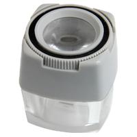 スケールルーペ 8倍 24mm 0.1mm 目盛付き 測量 検査用 高倍率ルーペ 池田レンズ