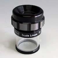 スケールルーペ 7倍L 測量 検査用 スケール付きルーペ スケール ルーペ