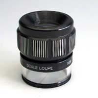 虫眼鏡 スケールルーペ 10倍L 測量 検査用拡大鏡 高倍率ルーペ