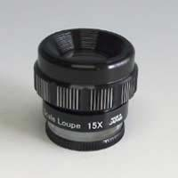 虫眼鏡 スケールルーペ 15倍L 0.1mm スケール