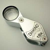 虫眼鏡 宝石用 ルーペ 7011 18倍 17mm アクセサリー