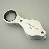虫眼鏡 メタルホルダールーペ 7080 10倍 15mm 宝石用 高倍率