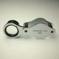 虫眼鏡 メタルホルダールーペ 7090 20倍 15mm 池田レンズ
