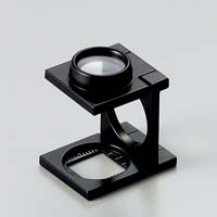 虫眼鏡 リネンテスター 7522 9倍 15mm ダブルレンズ ブラック ミリ&インチメモリ 測量,検査用ルーペ