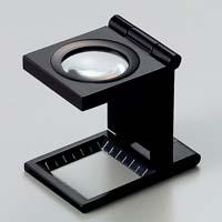 虫眼鏡 リネンテスター 7530 7倍 20mm ブラック ミリ&インチの白メモリ 測量 検査用 ルーペ 日本製 池田レンズ