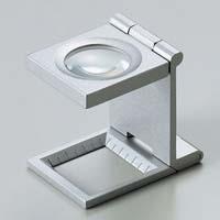 虫眼鏡 リネンテスター 7531 7倍 20mm シルバー ミリ&インチメモリ 測量,検査用ルーペ 日本製 池田レンズ