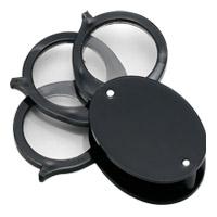 虫眼鏡 プラスチック枠ルーペ 7730 4倍&7倍&10倍 携帯用 高倍率ルーペ 池田レンズ