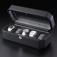 WOLF 高級ケース 5本用 アルファーミラージュ 時計用 ケース 高級 腕時計 時計ケース