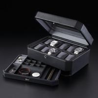 WOLF 高級ケース 10本用 アルファーミラージュ 時計用 ケース 高級 腕時計 時計ケース