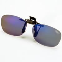AXE サングラス 偏光サングラス クリップサングラス AS-7P-BU 偏光グラス ゴルフ UV カット 跳ね上げ メガネの上からサングラス