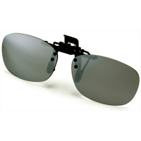 AXE 偏光サングラス クリップサングラス AS-7P-SV シルバーミラー 偏光グラス