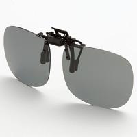 偏光サングラス クリップサングラス AS-8P AXE 偏光グラス ゴルフ UV カット 跳ね上げ メガネの上からサングラス