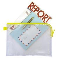 DX 連絡袋 A4/ファスナー付メッシュソフトケースA4 [SP] 3992 連絡袋 小学校 学校 袋 事務用品