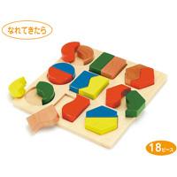 パズル 形あわせパズルA [木製玩具] 18ピース 7524 ピース 知育玩具 おもちゃ キッズ 子供 ゲーム 知育玩具 3歳 4歳 5歳