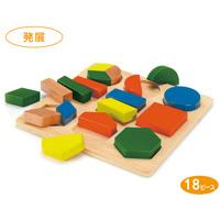 形あわせパズルB [木製玩具] 18ピース 7525 知育玩具 おもちゃ ゲーム 子供 知育玩具 3歳 4歳 5歳 キッズ おもちゃ パズル 形あわせ 木のおもちゃ