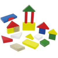 つみき 積木 カラフル木製つみき [ケース入] 23ピース 7595 木のおもちゃ 木製玩具 子供 幼児 知育玩具 3歳 4歳 5歳