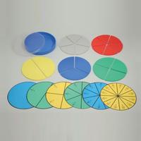 丸型分数説明器 [大] 7631 分数 学習 算数 学校教材 さんすう 数字 教材