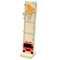 木のおもちゃ 木製カタカタ人形 [消防士] 験 7689 出産祝い お誕生日 知育玩具 木製 おもちゃ ベビー 幼児 子供