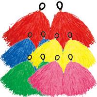 ポンポン チア 2個組 ハンドフリーポンポン テープ 学芸会 衣装 発表会 ダンス 踊り 運動会 体育祭 子供 キッズ 幼稚園 保育園
