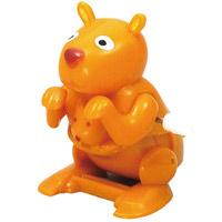 ぜんまい玩具 バク転カンガルー ネジ巻きおもちゃ