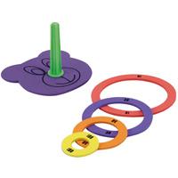 カラフルなげわ ウレタン製 わなげ 輪投げ ゲーム あそび おもちゃ【知育玩具 3歳 4歳 5歳 6歳】