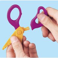 ピンキングはさみ6種セット はさみ 工作 図工 幼児 切る 学習教材