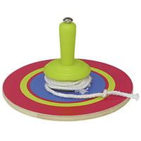ミニ糸引きゴマ 着色済 φ60 コマ おもちゃ 保育園 幼稚園 幼児 子供 学習教材 知育玩具