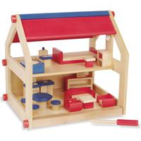 ドールハウス A 木製玩具 木のおもちゃ お誕生日 子供 キッズ 幼児 おもちゃ 知育玩具 幼稚園 保育園 木製玩具