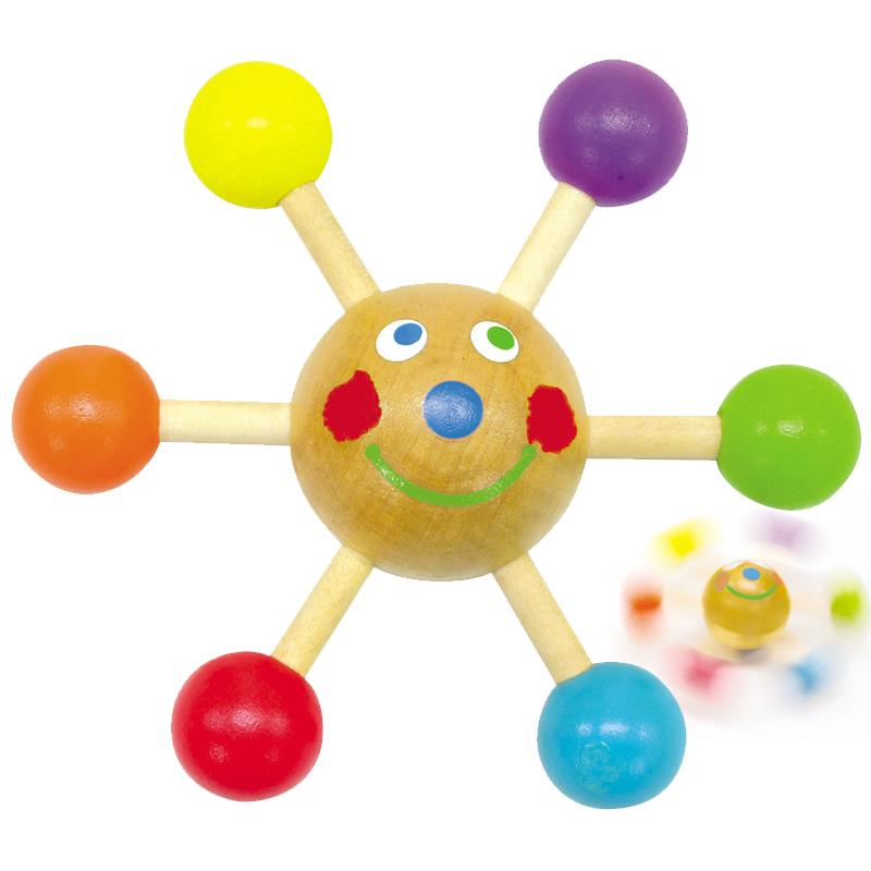 くるくる君 コマ 木製 手回しゴマ 子供 木製玩具 指先 練習 木のおもちゃ 知育玩具 4歳 5歳 6歳