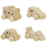 木製 ミニカー 4種