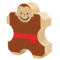 サーカスモンキー 積み木 つみき 人形 サル さる 猿 ゲーム 子供 幼児 知育玩具 3歳 4歳 5歳 6歳