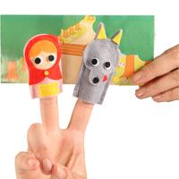 フェルト指人形 赤ずきんちゃん