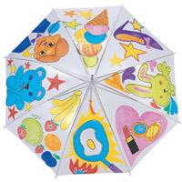 カラービニール傘 透明【絵を描いてオリジナルの傘に】子供 キッズ 手作り 運動会 体育祭 学芸会 文化祭 イベント