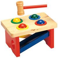 【メーカー在庫限り】 木のおもちゃ ハンマーコロリン お誕生日出産祝い 知育玩具
