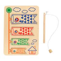 木のおもちゃ こいのぼりつり ゲーム  知育玩具