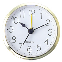 丸型時計 アラーム付 ゴールド