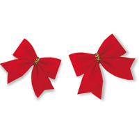 クリスマス 飾り 赤いリボン 12コ クリスマスツリー クリスマスリース デコレーション かわいい