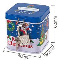 クリスマス 鍵付き 貯金箱 [キャンディ7粒入]  プレゼント ギフト パーティ