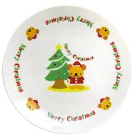 【メーカー在庫限り】 クリスマス ケーキ皿[ツリー&ベア] プレゼント パーティ