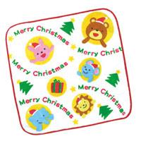 クリスマス タオルハンカチ[アニマルズ] プレゼント ギフト はんかち