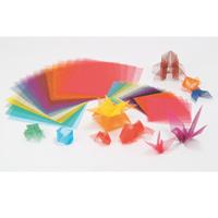 カラーメッシュ折紙 240mm角 10色20枚組 工作 素材