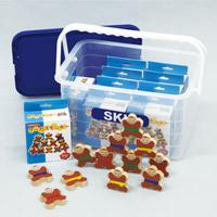 サーカスモンキーケース入 つみき 積み木 木製玩具 知育玩具 おもちゃ 幼児 学習教材