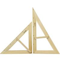 大型三角定規セット磁石付木製A型 三角定規 先生 学校教材 算数 学習教材