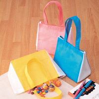 ミニトートバッグ カラフルミニトート[10枚組] プレゼント ギフト 粗品 不織布 袋