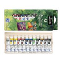 ルーブル油絵具 10ml 12色 スタジオセット