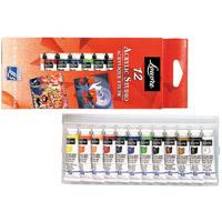 ルーブルアクリル絵具 10ml 12色 スタジオセット 絵具 絵 画材 図工 美術 学校教材 スケッチ 趣味